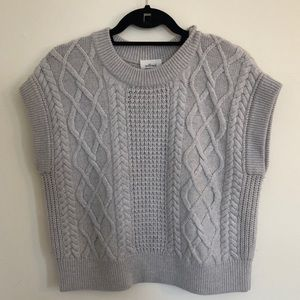 [Wilfred] by Aritzia Grey Cable Sweater Size M